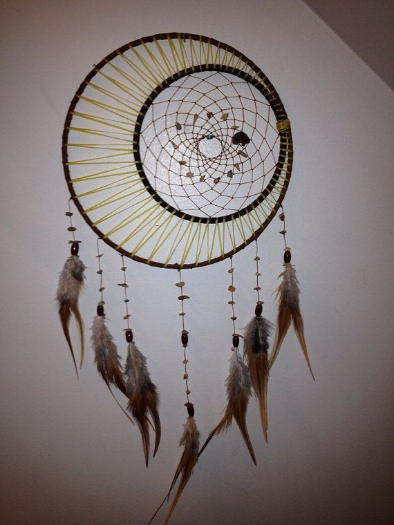 Sun moon and stars dream catcher
