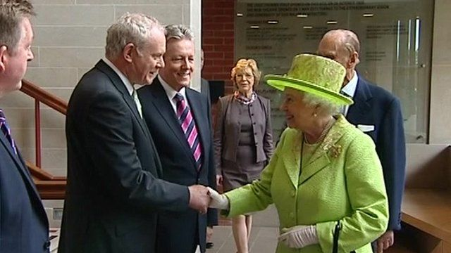 BBC News - Queen and Martin McGuinness shake hands  It must be a cold day in hell