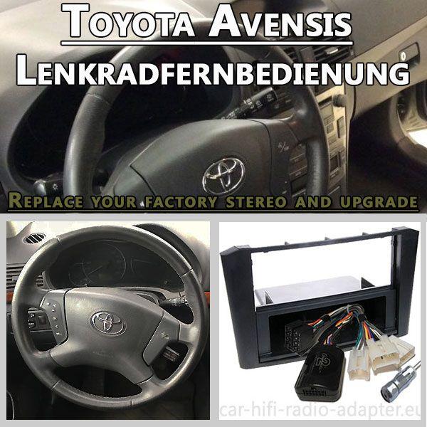 Toyota Avensis Lenkradfernbedienungsadapter 1 DIN Set für Fremdradio - Car Hifi Radio Adapter.eu Toyota Avensis Typ T25 2003–2008 Lenkradfernbedienungsadapter 1 DIN Autoradio Einbauset mit Antennenadapter