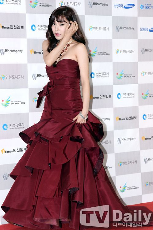 [130901] Tiffany at Incheon Korean Music Wave Red Carpet