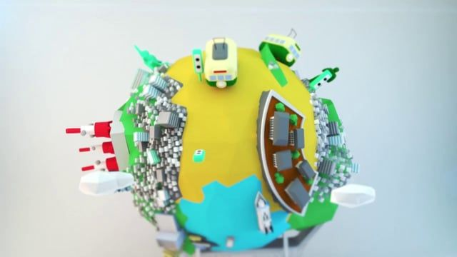 NAGASAKI  CITY    KINGPIN Film Works    CINEMA 4D  after effects  low poly