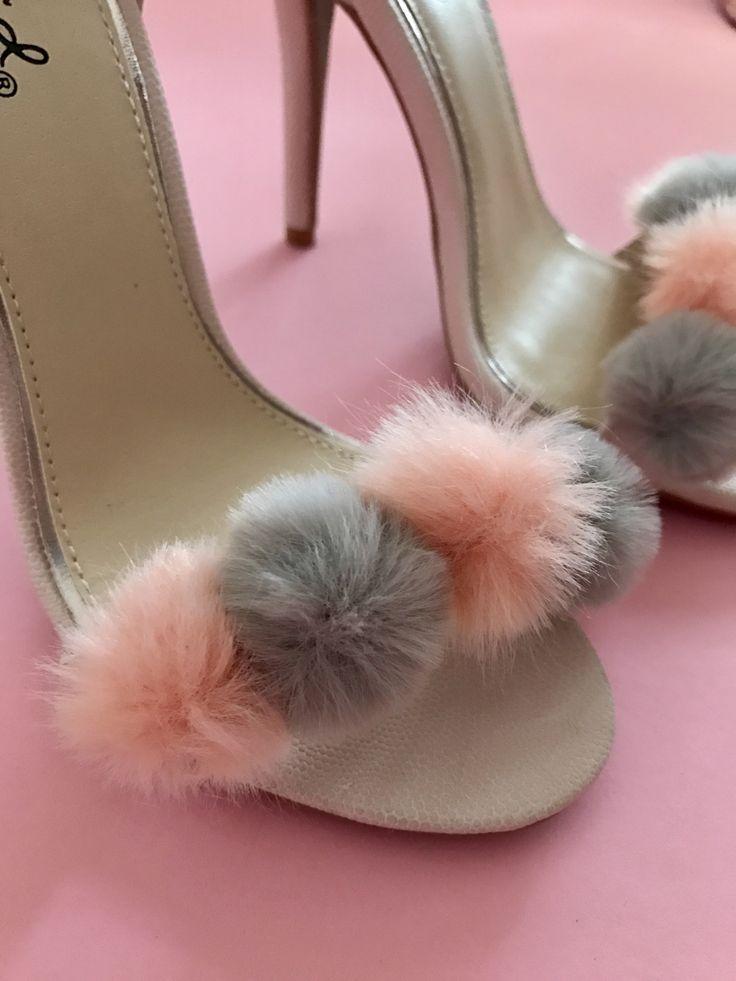 Resultado de imagen para moda de pompones grandes. Strappy HeelsStilettosPj Shoe BootsHigh HeelPom ...