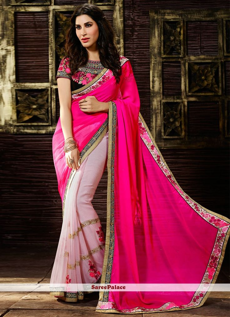 Sophie Chaudhary Patch Border Work Designer Saree