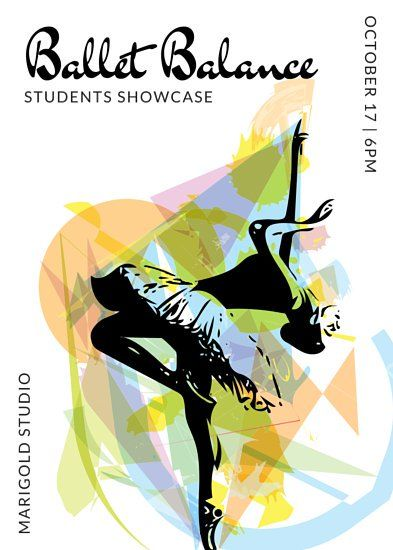 Colorful Ballet Dance Flyer