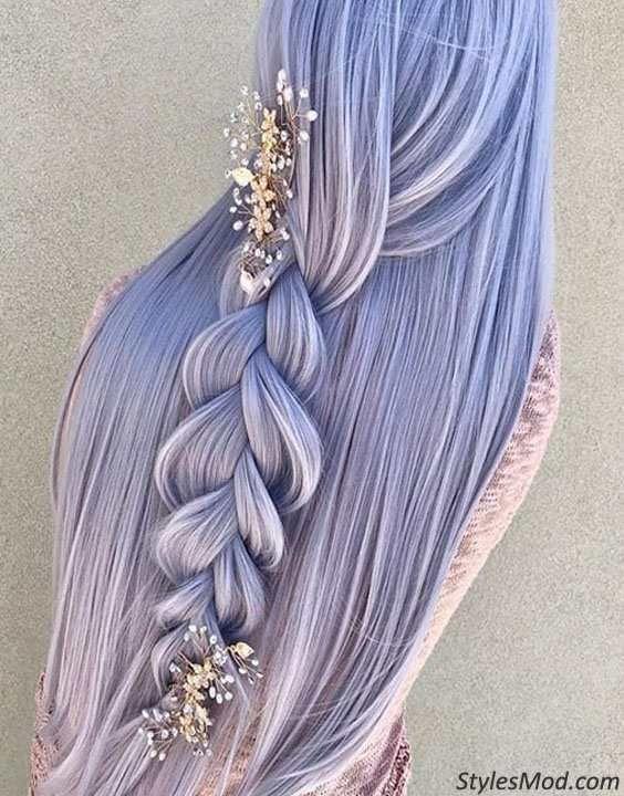 Braids Frisuren sind eine der beliebtesten Frisuren für Bridals / Hochzeit Da …