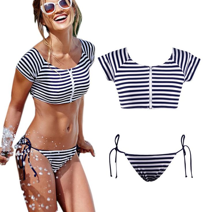 $5.68 (Buy here: https://alitems.com/g/1e8d114494ebda23ff8b16525dc3e8/?i=5&ulp=https%3A%2F%2Fwww.aliexpress.com%2Fitem%2FWomen-s-Bandage-Bikini-Set-Push-up-Striped-Zipper-Swimsuit-Bathing-Swimwear-Suit%2F32671381616.html ) Women's Bandage Bikini Set Push-up Striped Zipper Swimsuit Bathing Swimwear Suit for just $5.68