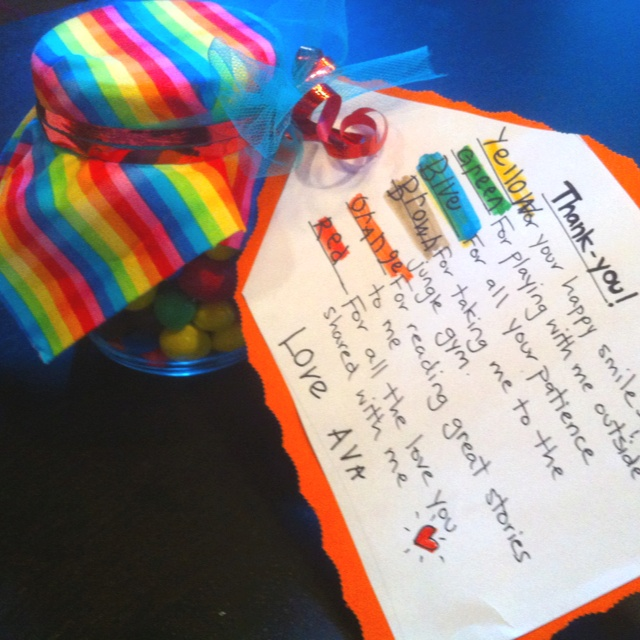 A thank-you gift to my daughters daycare teachers. They cared for since she  was 3 months. She will be 5 and going to Kinder Aug. 2014!!…   Gift ideas  ... - A Thank-you Gift To My Daughters Daycare Teachers. They Cared For