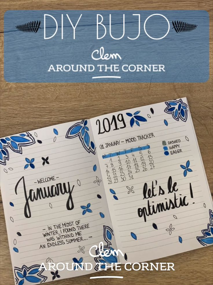DIY BUJO monthly cover – January