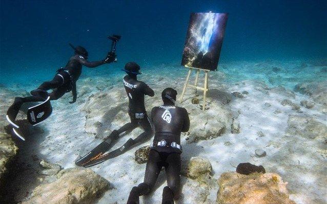 Εικαστική βουτιά στον υπέροχο βυθό των ελληνικών θαλασσών