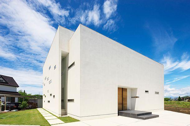 白を基調とした光差し込む家・間取り(茨城県古河市)   注文住宅なら建築設計事務所 フリーダムアーキテクツデザイン