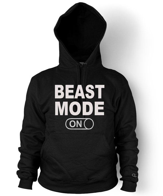 Beast Mode On Hooded Sweatshirt Workout Gym Fitness Hoodie