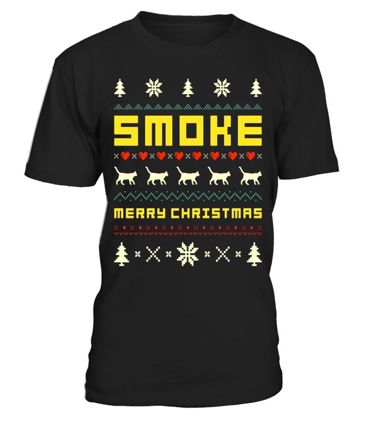 SMOKE Ugly Christmas Sweater T-Shirt Vintage Retro Style T-shirt, christmas t-shirts women, christmas t-shirts men, christmas t-shirt 4xl, christmas t-shirt boys, christmas t-shirt family set, christmas t-shirt 2017