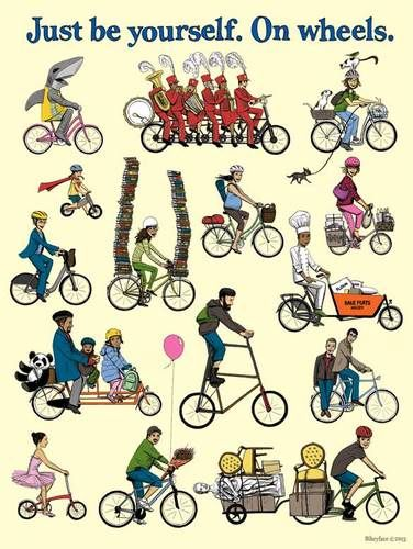 """Just Be Yourself On Wheels 18x24"""" Poster, $15.00"""