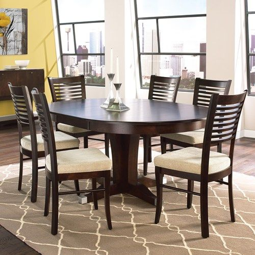 Custom Dining Room Furniture: Canadel Custom Dining Customizable Round Table With Leaf