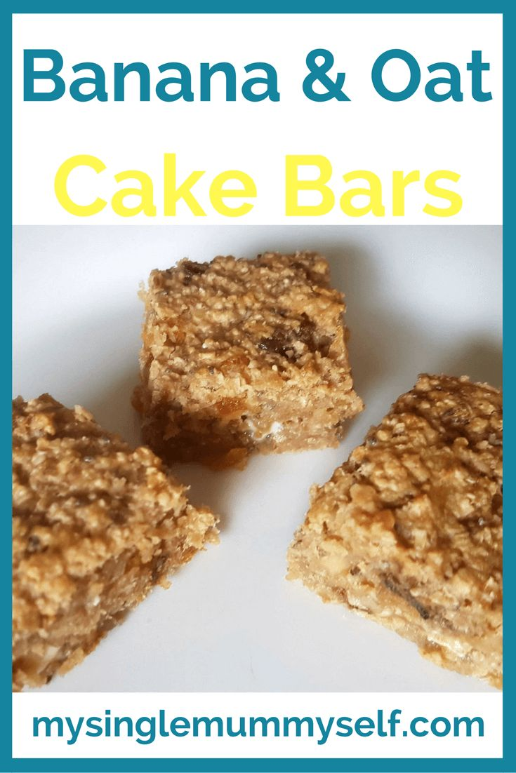 Banana and oat cake bars recipe, healthy recipes, healthy snacks for kids, kids in the kitchen, baking with kids, easy baking, easy snacks, recipe, baking recipes
