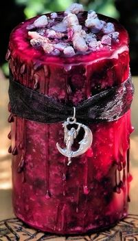 ~This is an amazing candle and one I highly recommend, I get them and burn them during my monthly cycle to tun in more acutely to my body and the cycle of life~ Women's Mysteries Blessing Pillar - pagan wiccan witchcraft magick ritual supplies