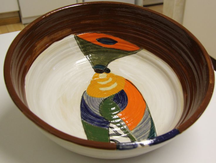Hand thrown pottery by Dana www.dmgdesigns.co.za . Lady of Africa bowl.