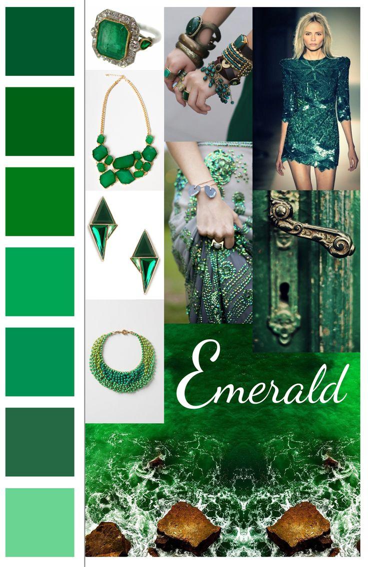 Trend board Emerald // presentation