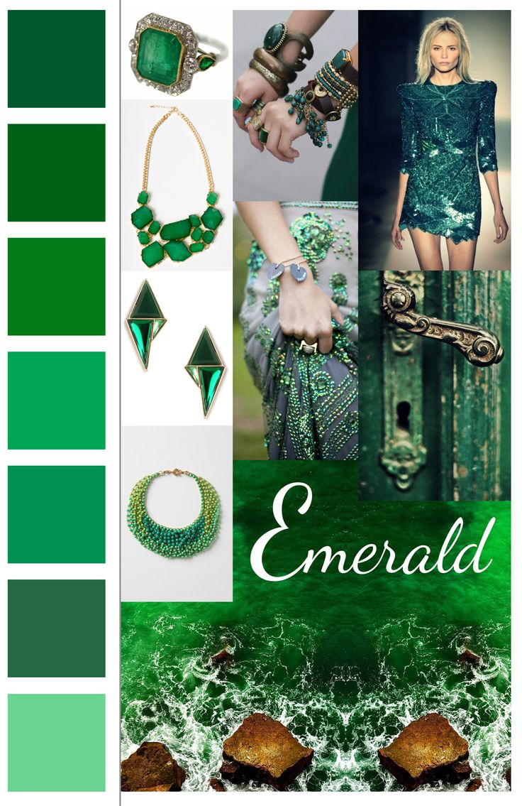 Trend Board : Emerald | Fashion, Colors and Color of the year