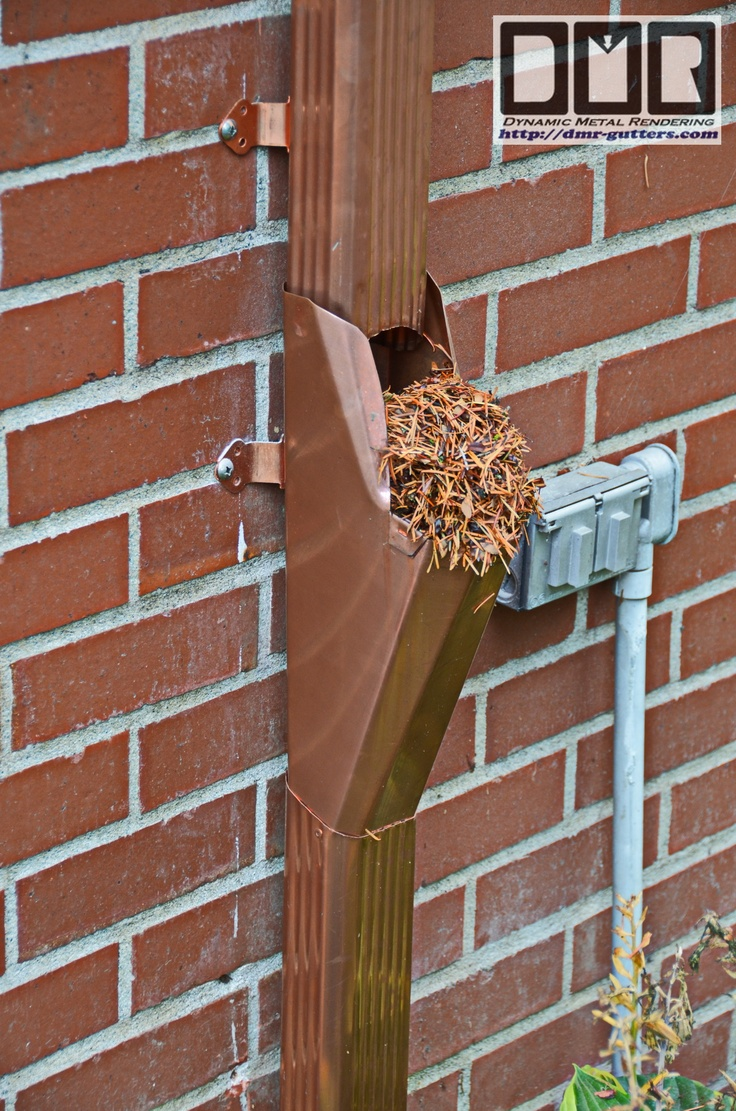 Leaf Ejector For Downspouts To Keep Underground Pipes