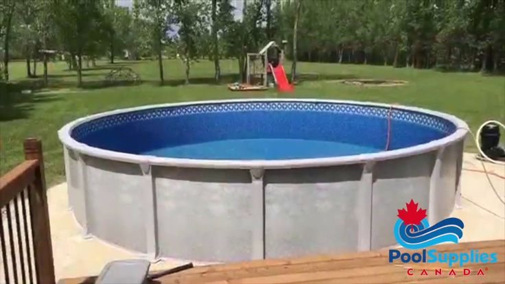 Pool Supplies Canada Above Ground Pool and Deck Build #Pools #Aboveground #PoolSuppliesCanada #Backyard #DIY