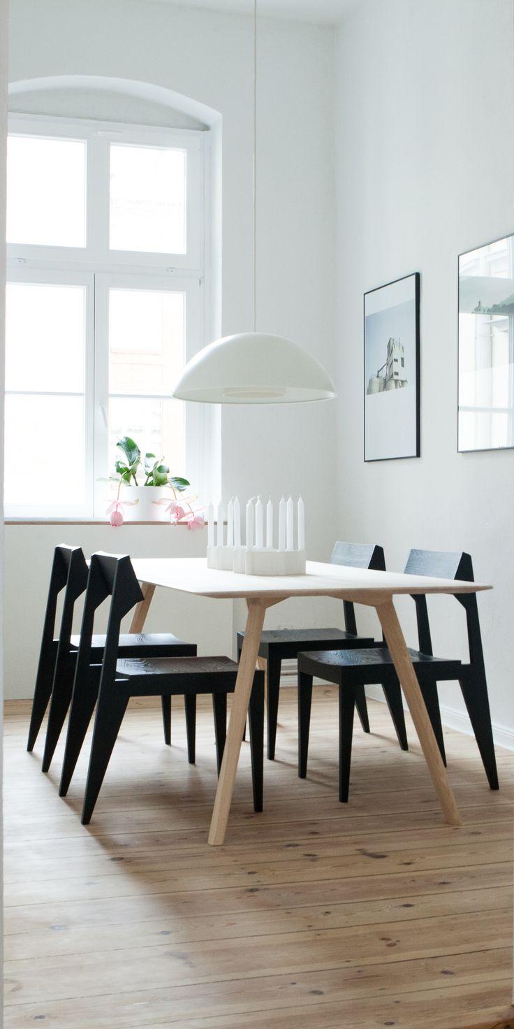 meyer table l ash wood solid ash wood schulz chair in black www - Einfache Dekoration Und Mobel Interview Mit David Geckeler