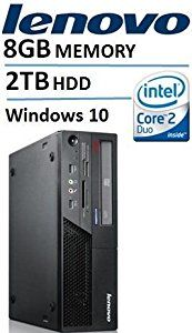 Amazon.com: Lenovo ThinkCentre M58 Desktop with Intel Core2 Duo 3.0 GHz Processor, 8GB RAM, 2 TB Hard Drive DVD-ROM, Windows 10 Pro (Certified Refurbished): Computers & Accessories
