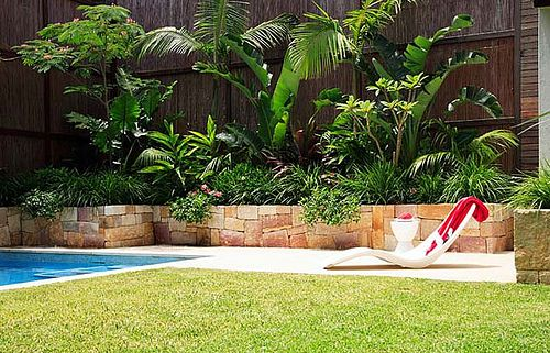 tropical backyard landscaping ideas -