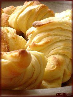 Recette croissants + pâte feuilletée briochée