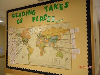 Reading Takes Us Places! Great way to incorporate geography and culture into lessons!