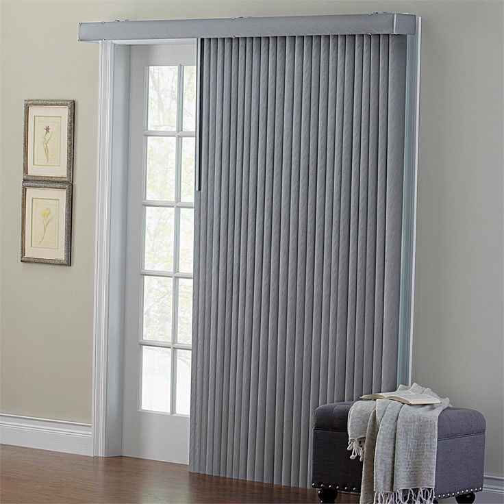 Brylanehome Grey Embossed Vertical Blinds Window