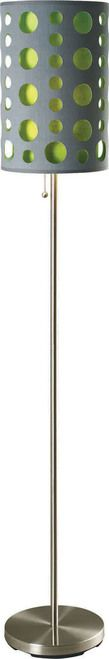 Furniture of America Hoolie Collection Grey & Green Floor Lamp L9300FGY-GR
