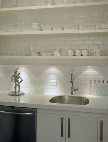 Kitchen Decoration with Open Shelves   HomCozy