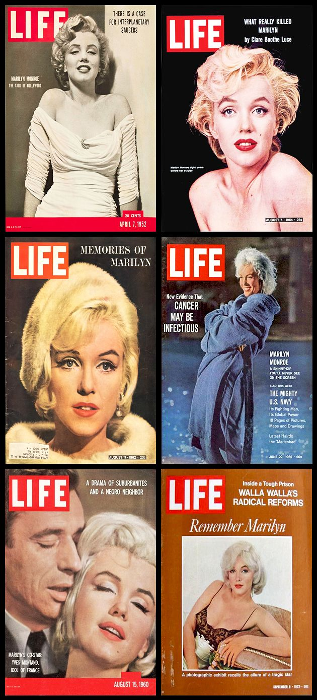 Life (American) magazine covers of Marilyn Monro