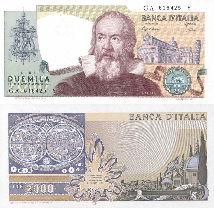 2,000 Lire ° Italy °   Galileo. the money David was given.  #Davidsummit