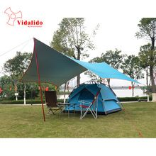 5*4.7m super large size new design silver coated tarp tent/gazebo UV beach tent awning camping barbecue outdoor large   Tag a friend who would love this!   FREE Shipping Worldwide   Get it here ---> http://extraoutdoor.com/products/54-7m-super-large-size-