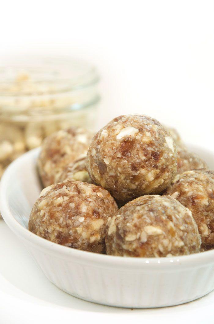 3-Ingredient Cashew Coconut Balls - Vegan, Raw, Gluten-Free, Oil-Free, No Added Sugar