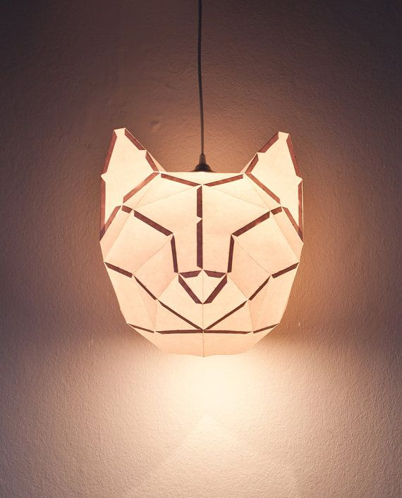 Cat Large - do it yourself paper lampshade. €35.00, via Etsy.