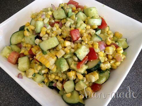 Fresh Corn & Avocado Salad | fare. | Pinterest