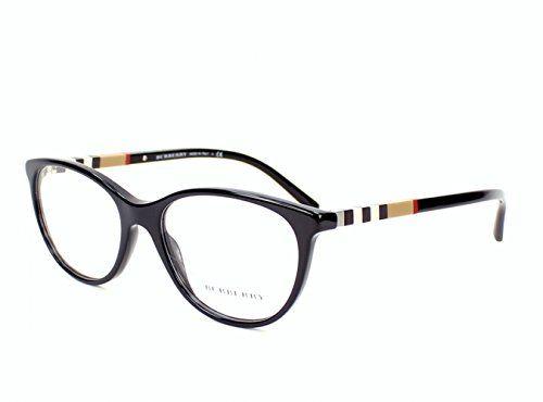 Burberry Women's Optical Frame Acetate Black Frame/Transparent Lens Non-Polarized Glasses 52 0 - http://todays-shopping.xyz/2016/08/27/burberry-womens-optical-frame-acetate-black-frametransparent-lens-non-polarized-glasses-52-0/