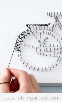 Bicycle String Art   String Art DIY   Free patterns and templates to make your own String Art