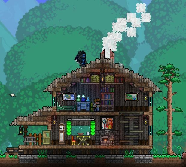 17 Best Images About Terraria Houses On Pinterest