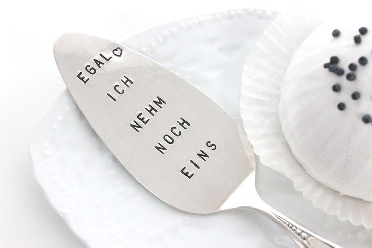 Besteck - Tortenheber, EGAL, versilbert, gestempelt - ein Designerstück von theartofvariety bei DaWanda