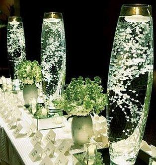 MuyAmeno.com: Decoracion con Flores Sumergidas Blancas, Centros de Mesa, parte 1