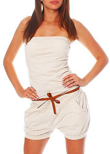 #Hosenanzug #Jumpsuit #kurz mit #Gürtel #Einteiler #8964 #Damen #One #Size #(beige) Hosenanzug Jumpsuit kurz mit Gürtel Einteiler 8964 Damen One Size (beige), , Einheitsgröße passend von 34 bis 40, Elegantes und erfrischendes Design, Highlight durch den Gürtel aus Kunstleder, Sehr angenehmer zu tragender Stoff, Super leicht, perfekt für wärmere Tage