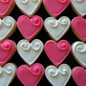 little heart cookies   adorable!