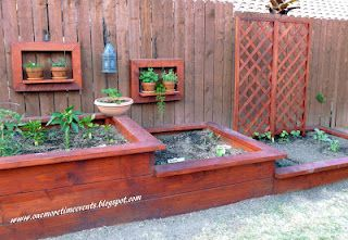 Raised Garden Beds, put against new dog fence