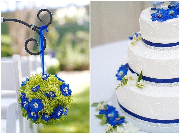 From a wedding at the San Clemente Tennis Club in San Clemente, Ca. Flowers by McCool Flowers in Laguna Niguel, Ca. Blue and white with a touch of green.