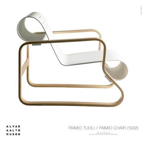 Juliste Paimio-tuoli valkoinen – Alvar Aalto Shop