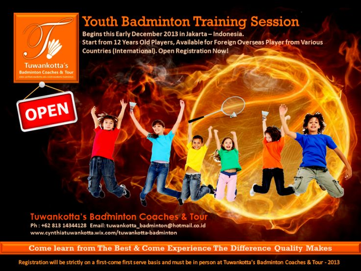 Youth Badminton Training Session Registration Now Open for 2014. Foreign ( Overseas ) and Local are Welcome! Let's Practice and Join Us!